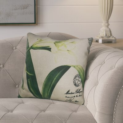 Edwardsburg White Lily Throw Pillow