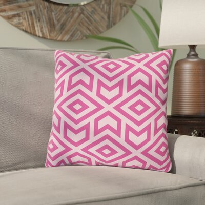 Gerson Throw Pillow Size: 16 x 16, Color: Pink
