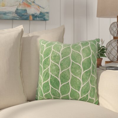 Millstone Embroidered Leaf Down Filled Throw Pillow