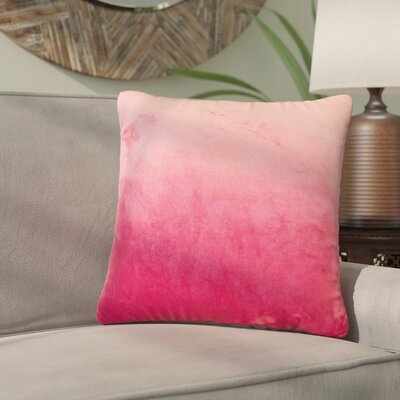 Nystrom Ombre Throw Pillow Color: Red Dahlia