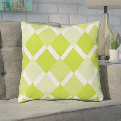 Van Cleef Throw Pillow Size: 16 x 16, Color: Green