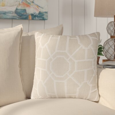 Daigre 100% Cotton Throw Pillow Color: Cream