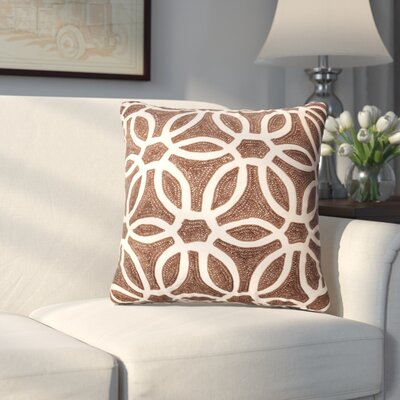 Kinnison Throw Pillow Color: Brown/Beige