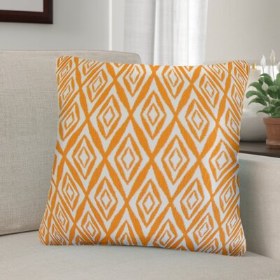 Baremeadow Geometric Cotton Throw Pillow Color: Orange