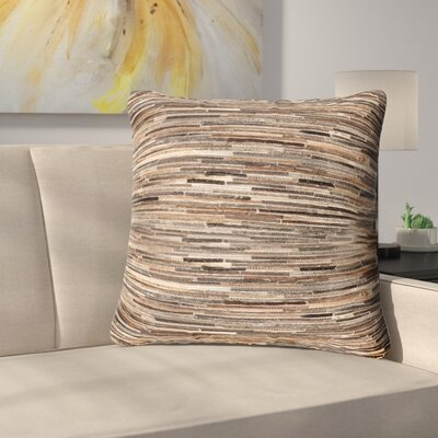 Samaras Throw Pillow Color: Brown