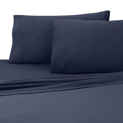 Jersey Sheet Set Size: Twin, Color: Navy