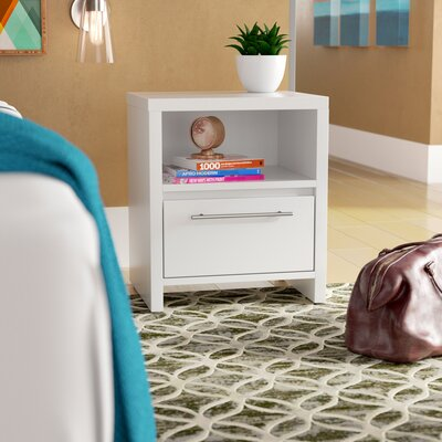 Marylou 1 Drawer Nightstand Color: Off-White