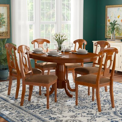 Stella 7 Piece Dining Set Chair Upholstery: Upholstered
