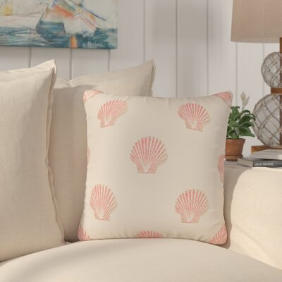 Benat Scallop Indoor/Outdoor Throw Pillow Size: 17 H x 17 W x 4 D, Color: Pink
