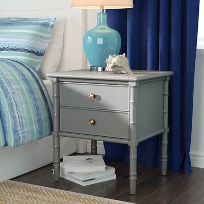 Aylin 2 Drawer Nightstand Color: Gray