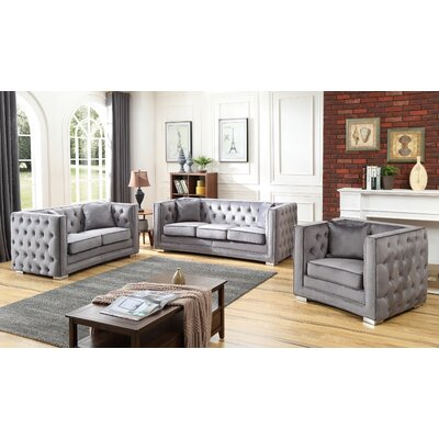 Smollin 3 Piece Configurable Living Room Set