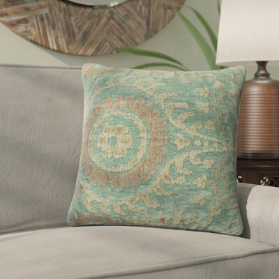 Wyant Throw Pillow Size: 22 H x 22 W x 6 D, Color: Blue Grass
