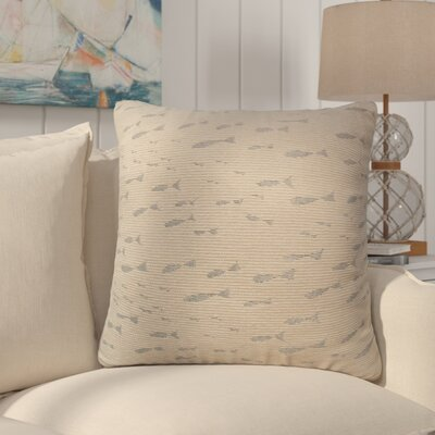 Sunbury Minnow Throw Pillow Size: 18 x 18, Color: Cove / Shimmering Silver