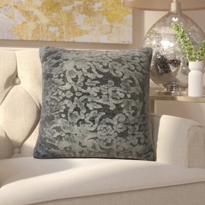 Nostrand Throw Pillow Size: 22 H x 22 W x 6 D, Color: Metal