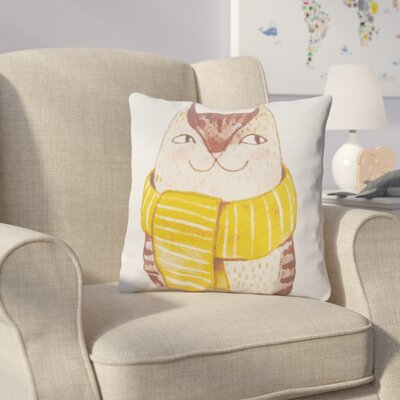Cooke Cool Cat Cotton Throw Pillow