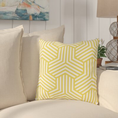 Fentress Throw Pillow Size: 18 x 18, Color: Yellow