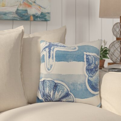 Alonsa Watercolor Waves Down Filled Throw Pillow