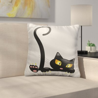 Bouley Black Cat Throw Pillow