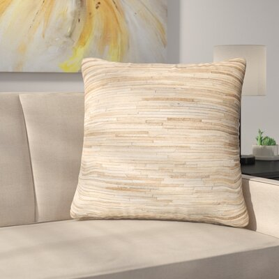 Griess Throw Pillow Color: Beige