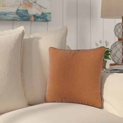 Golden Canvas Sunbrella Indoor/Outdoor Throw Pillow Color: Orange