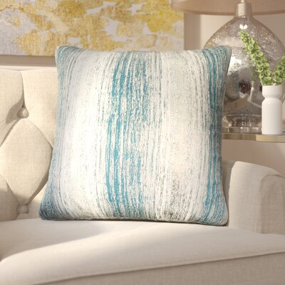 Hunsberger Jacquard Throw Pillow Color: Dragonfly Blue Gold