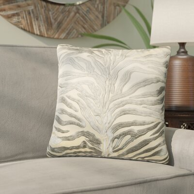 Yarbrough Throw Pillow Color: Silver