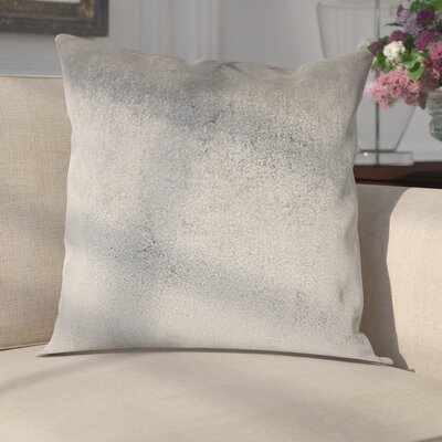 Delrick Luster Throw Pillow Color: Silver Gray