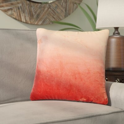 Nystrom Ombre Throw Pillow Color: Christmas