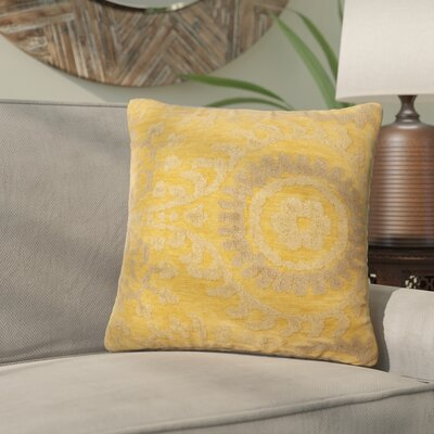 Wyant Throw Pillow Size: 18 H x 18 W x 6 D, Color: Buttah