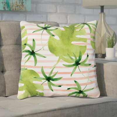 Tonnele Palm Throw Pillow Size: 18x 18