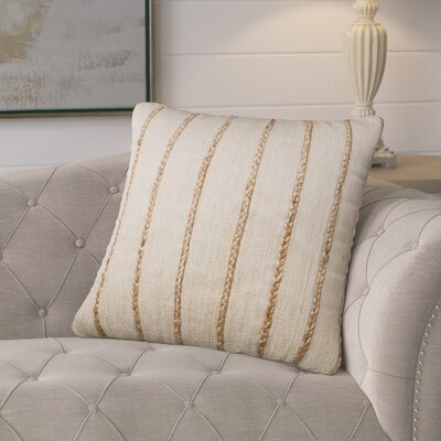 Firger Throw Pillow Color: Beige