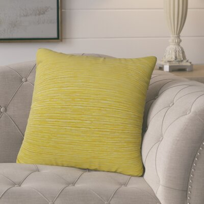 Zanders Sunbrella Indoor/Outdoor Throw Pillow Pillow Cover Color: Sunshine Yellow