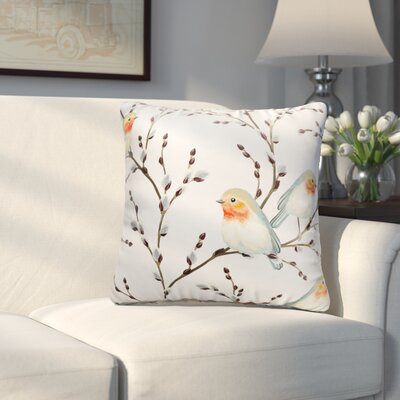 Hutchcraft Birds on the Bursted Branche Throw Pillow