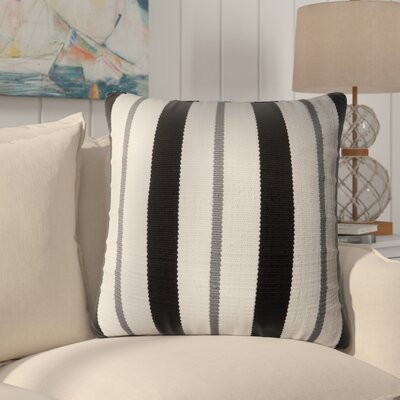 Vivanco Indoor/Outdoor Throw Pillow Color: Black/Gray