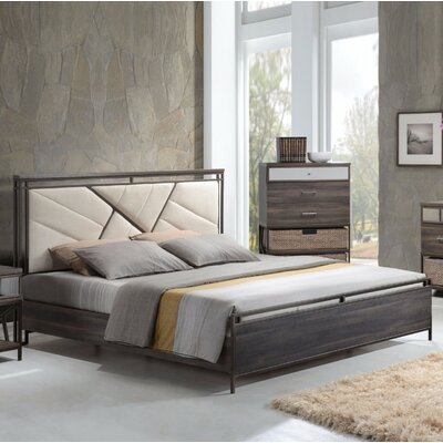 Alexandria Queen Upholstered Panel Bed