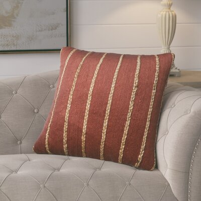 Firger Throw Pillow Color: Rust/Steel