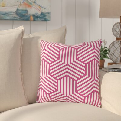 Fentress Throw Pillow Size: 18 x 18, Color: Pink