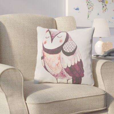 Cooke Resting Owl Cotton Throw Pillow