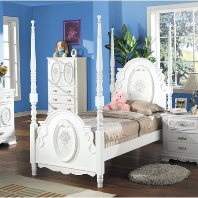 Sashi Comfy Full Four Poster Bed