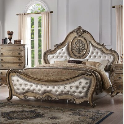 Okeefe Arched Queen Upholstered Panel Bed