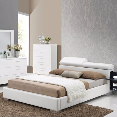 Grealish Queen Platform Bed with 2 Built-in Night Stands