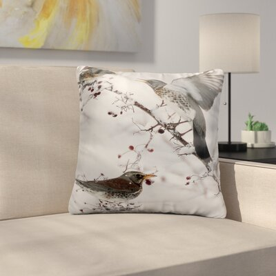 Bourassa Sparrows on the Bush Throw Pillow