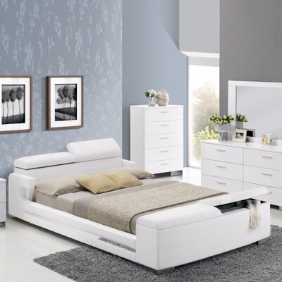 Caruolo Queen Upholstered Storage Platform Bed