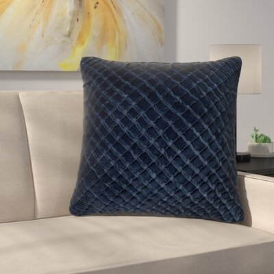 Lao Velvet Throw Pillow Color: Navy