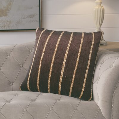 Firger Throw Pillow Color: Brown