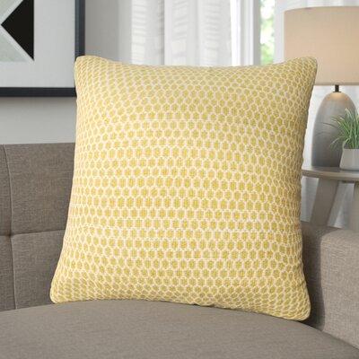 Vanmeter Throw Pillow Color: Lemon