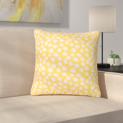 Look Indoor/Outdoor Throw Pillow Size: 17 H x 17 W x 4 D, Color: Yellow