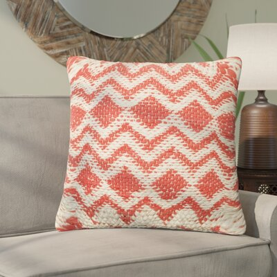 Cayenne Cotton Throw Pillow Color: Coral/Gray