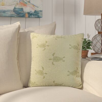 Sunbury Sea Turtle Throw Pillow Size: 18 x 18, Color: Sea Grass / Green