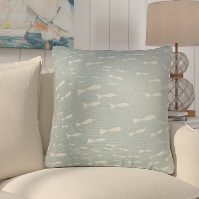 Sunbury Minnow Throw Pillow Size: 18 x 18, Color: Surf / Blue